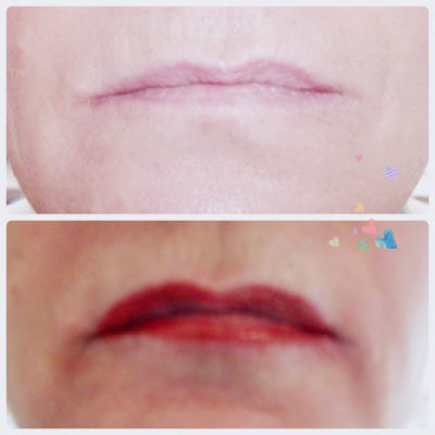A photo showing Microblading lips Hull