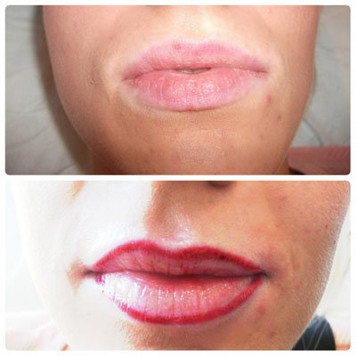 A photo showing semi permanent lips