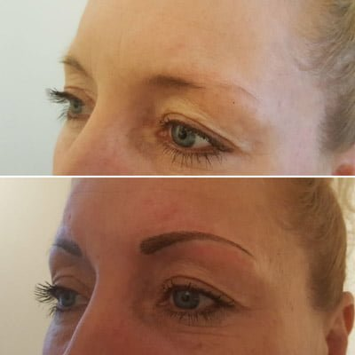 A photo of 3d microblading
