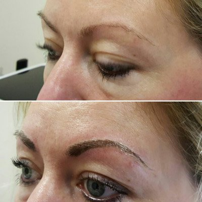 A client asking about  microblading