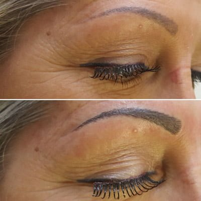 A client asking about microblading after a year