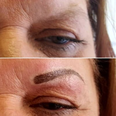 A client asking about microblading for older people